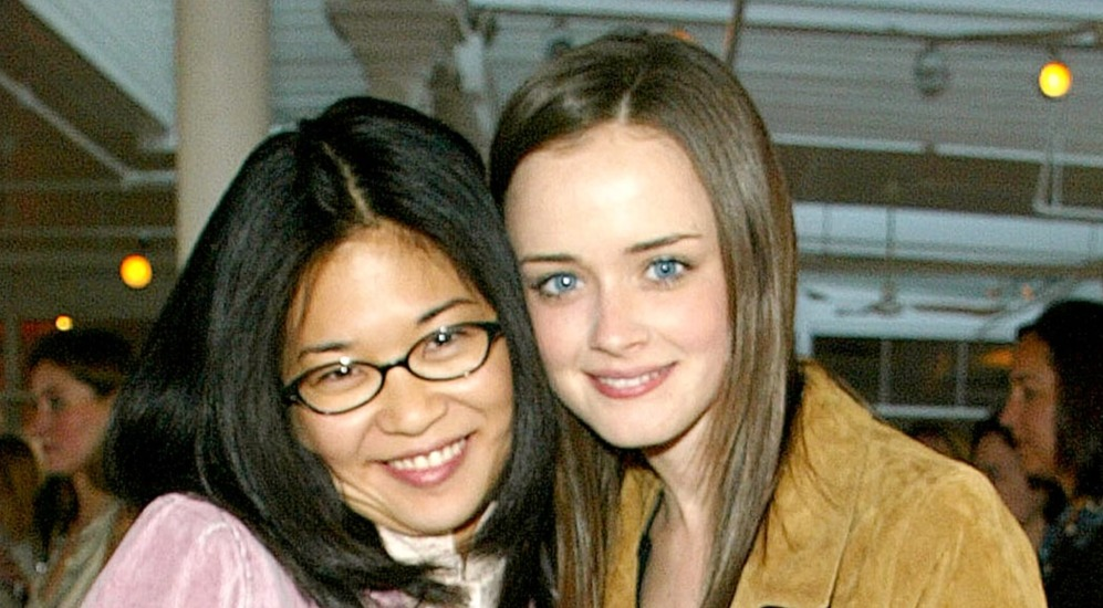 Gilmore Girls cast Keiko Agena (Lane Kim) and Alexis Bledel (Rory Gilmore) attending the WBC Casting Call 2002