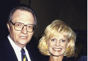 Larry King with his fifth wife, Sharon Lepore. On September 25, 1976, Larry married his fifth wife, Sharon Lepore. Sharon was a mathematics teacher and a production assistant. The couple got divorced in 1983.