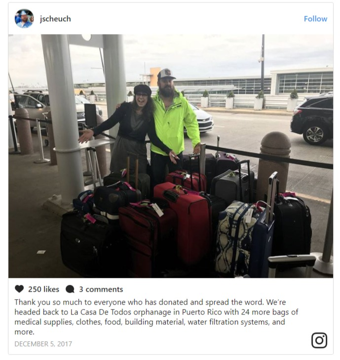 Dannie and her boyfriend Jeremy Scheuch are heading to help the hurricane victims of Puerto Rico.