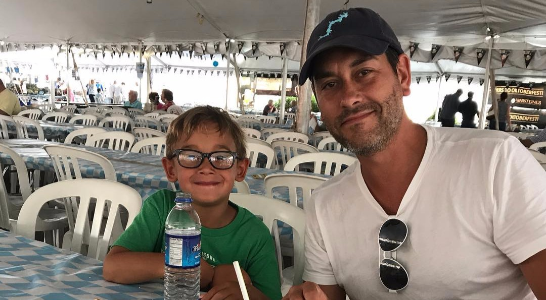 Clayton Morris with his son Miles
