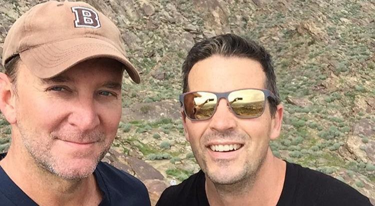 Damon Bayles with husband