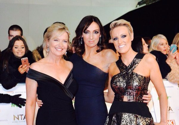 Sally Nugent with BBC Breakfast hosts Carol Kirkwood (left) and Steph McGovern (right).