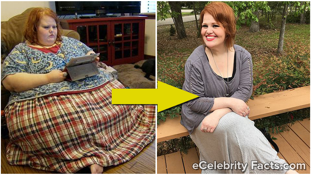 Nikki Webster's then and now weight loss picture