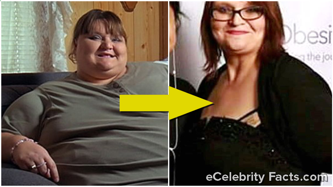 Melissa D. Morris's then and now weight loss transformation picture