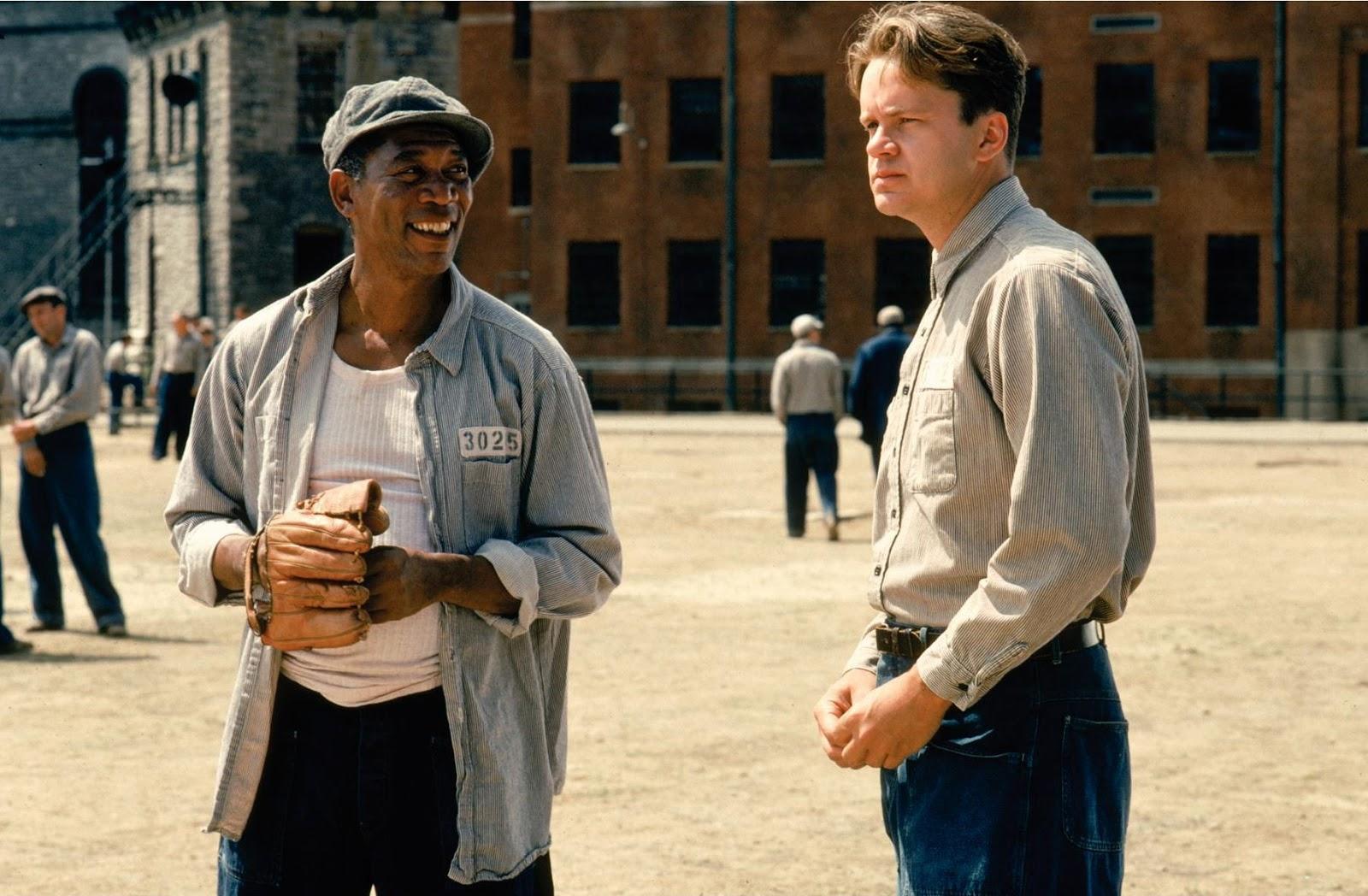 Scene from movie, The Shawshank Redemption
