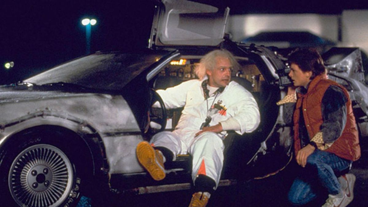 Scene from the movie Back to the Future