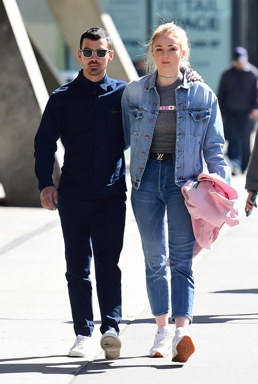 Sophie Turner and Joe Jonas are walking