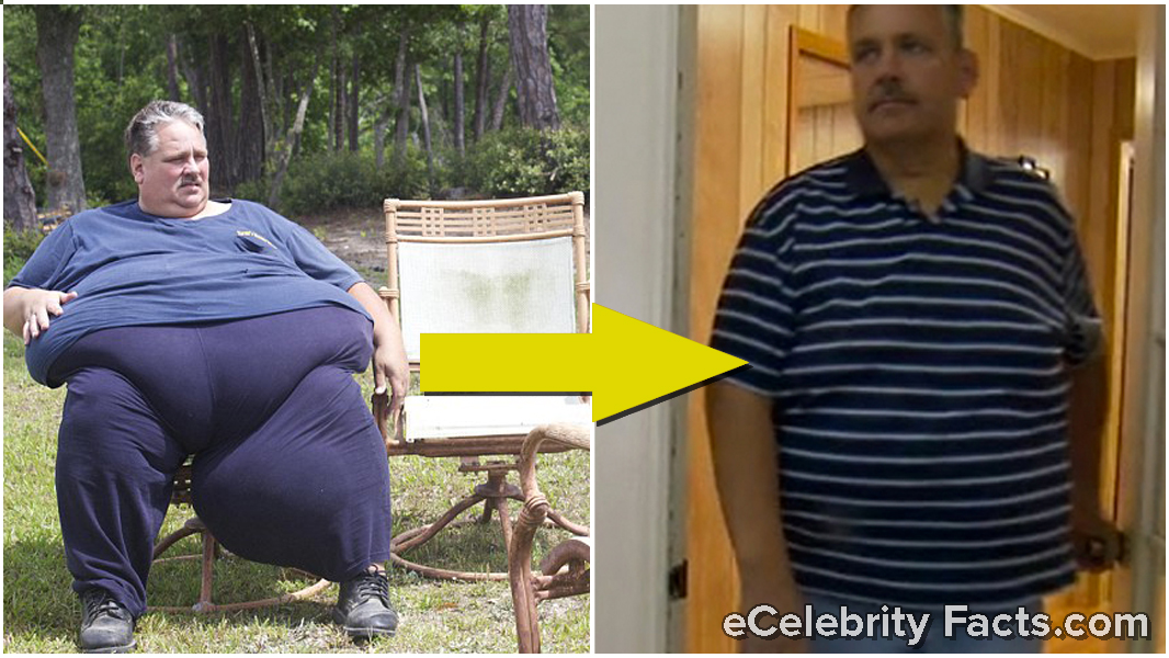Chuck Turner's then and now weight loss picture