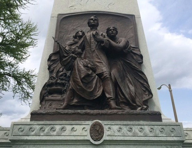 Standing statue of Cofederate soldiers in Forest Park, St. Louis
