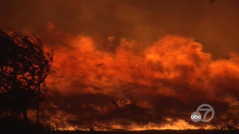 Two large fires have ignited structures in Napa