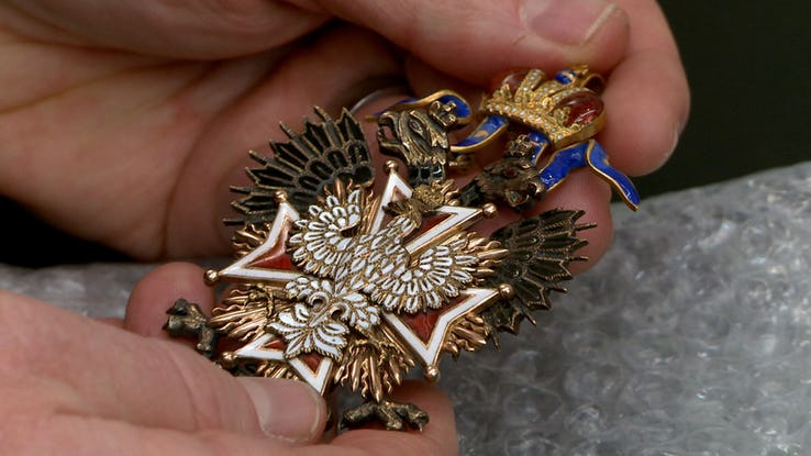 Polish Order Of The White Eagle Medallion.
