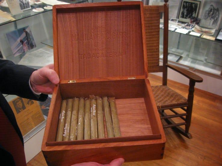 President John F. Kennedy's box of cigars.