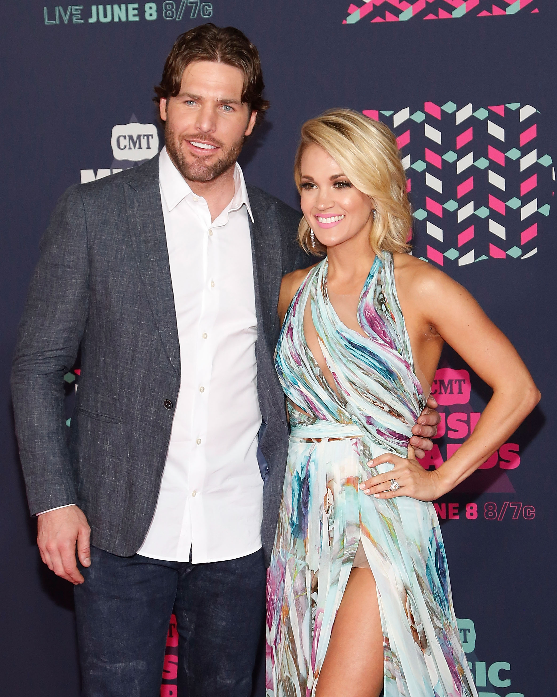 Carrie Underwood with her husband