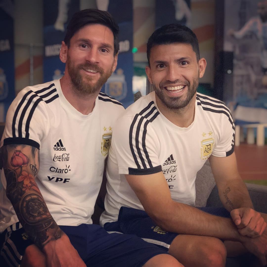 Lionel Messi and Sergio Leonel Aguero