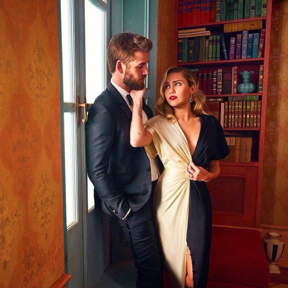 Miley Cyrus and her fiance Liam Hemsworth