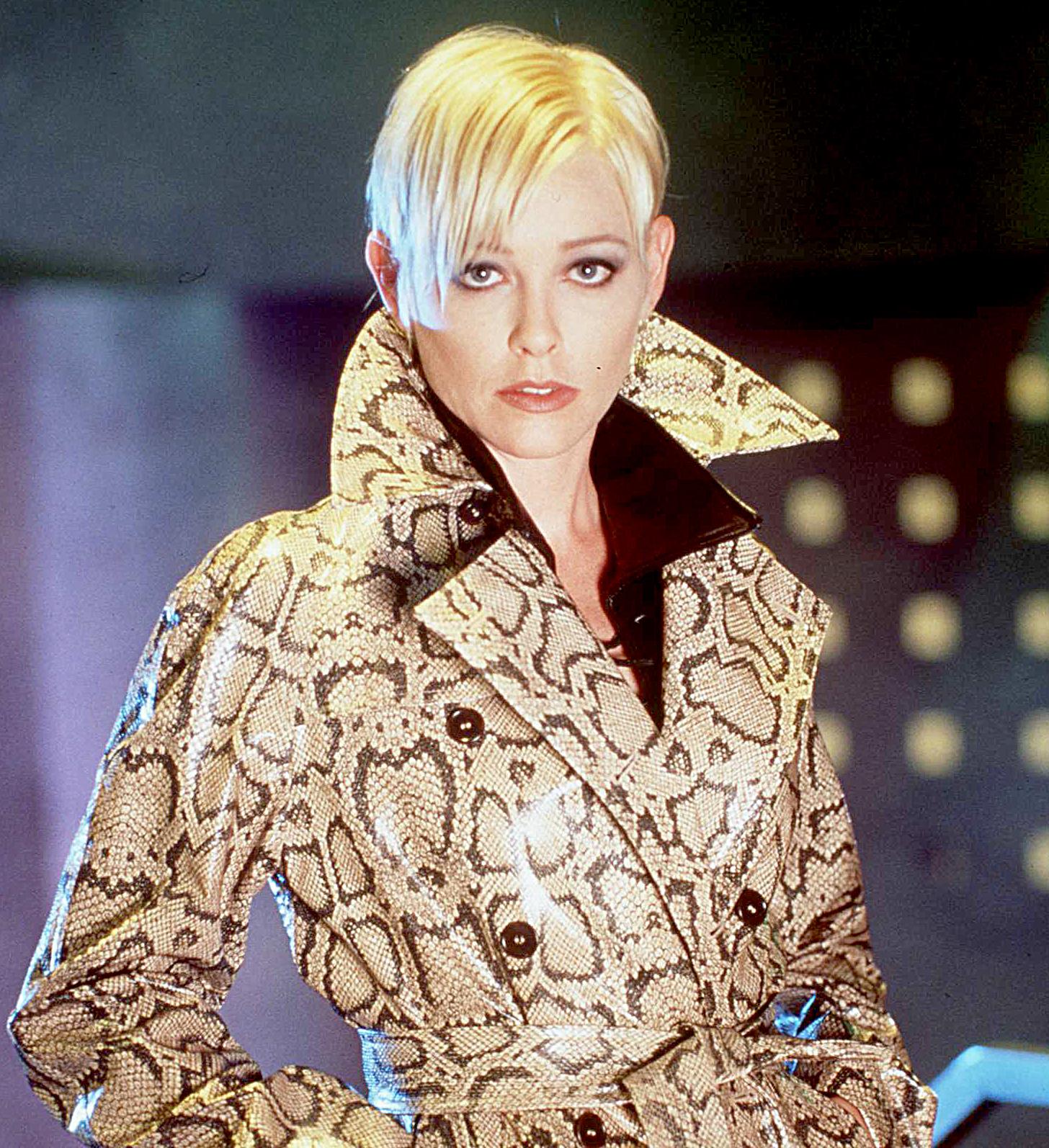 Young Pamela Catherine looks total clad in the designer coat