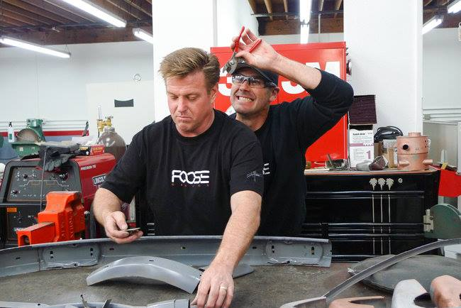 Chip Foose and Chris Jacobs playing around with the tools