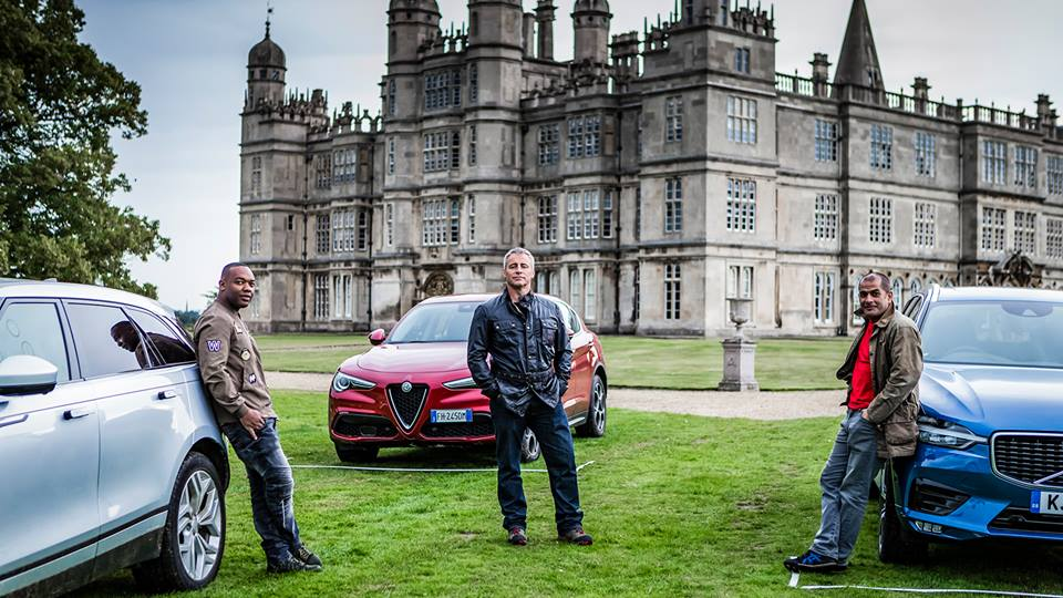 Top Gear presenters Matt LeBlanc, Chris Harris and Rory Reid