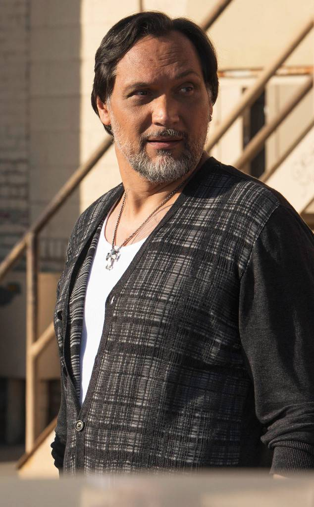 Jimmy Smits as Nero Padilla on the set of Sons of Anarchy