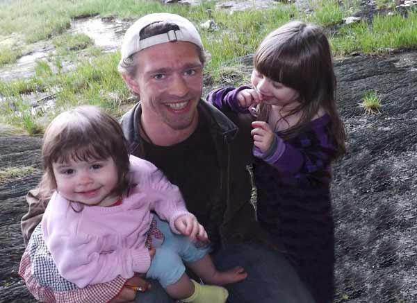 Matt Brown is holding two of his rumored children