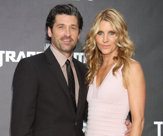 Patrick  Dempsey attending an event with his wife, Jillian Fink