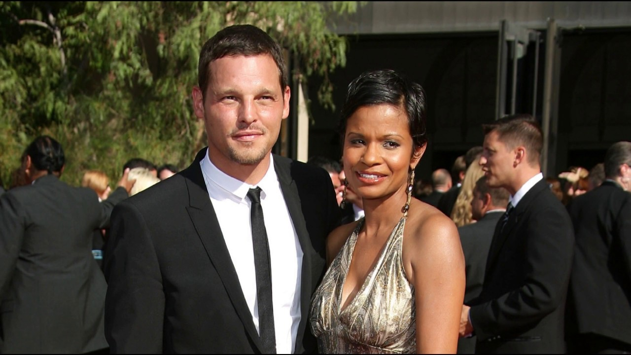 Grey's Anatomy star Justin Chambers attending an event with his wife, Keisha Chambers