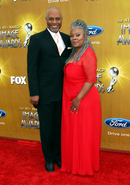 James Pickens Jr. attending the 41st NAACP Image Awards with his wife, Gina Taylor-Pickens