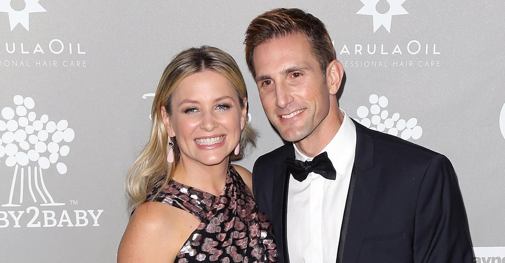 Jessica Capshaw and Christopher Gavigan sharing a smile