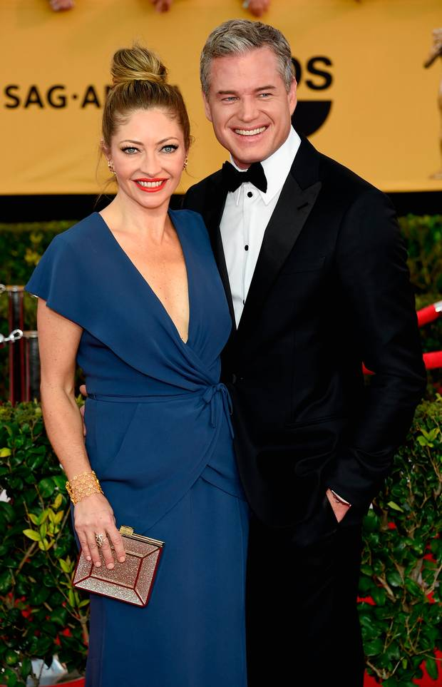 Eric Dane and Rebecca Gayheart attends the 21st Annual Screen Actors Guild Awards