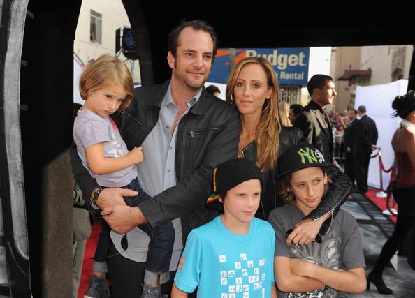 Kim Raver along with her husband, Manu Boer and children attending IRIS on September 25, 2011