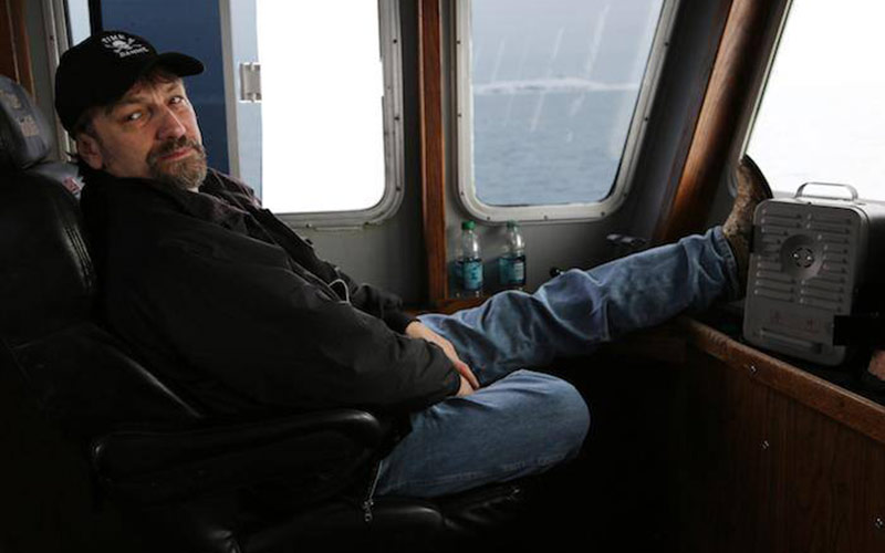 Jonathan Hillstrand in captain's cabin