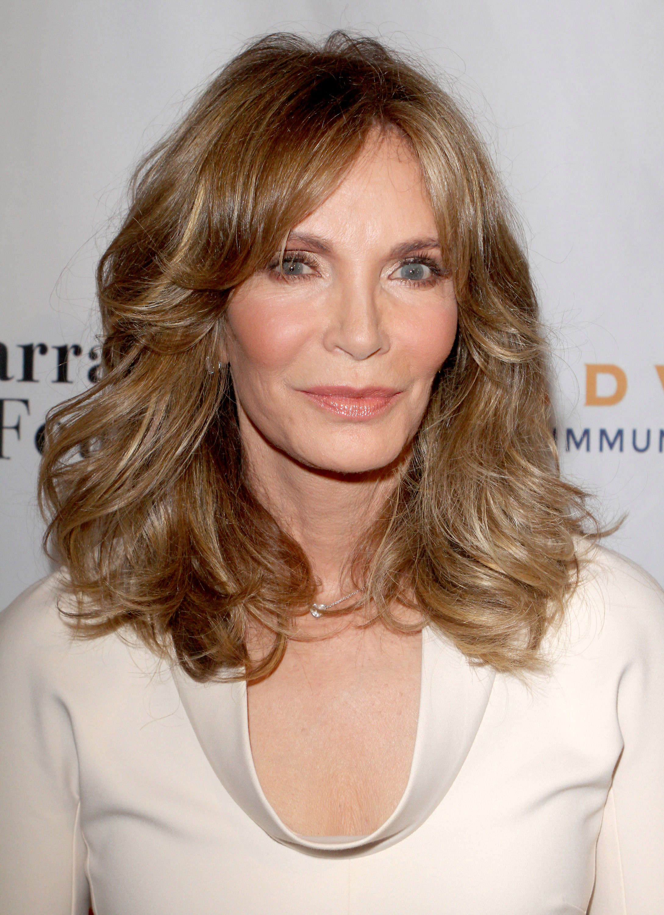 Jaclyn Smith attending event for Farrah Fawcett Foundation. She played the role of Kelly Garrett in Charlie's Angels alongside, Kate Jackson and Farrah Fawcett.