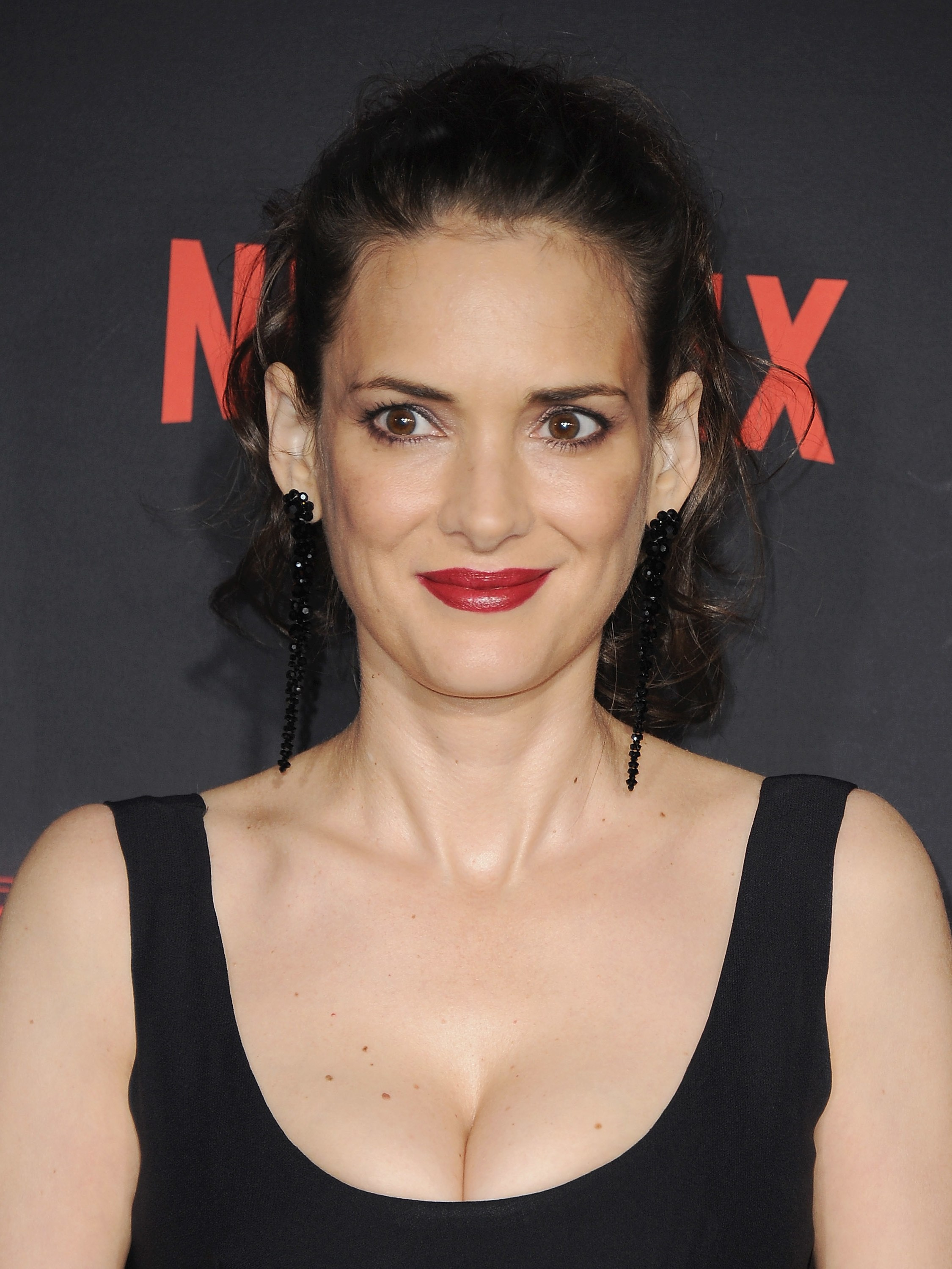 Actress Winona Ryder during the premiere of Stranger Things