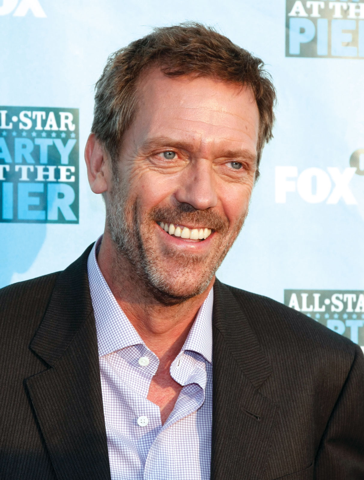 Golden Globe Award winner actor Hugh Laurie at All Star Party at the Pier
