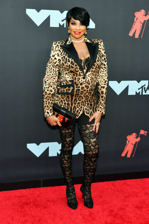 Sandra Jacqueline Denton aka Pepa at the MTV VMA's Red Carpet 2019