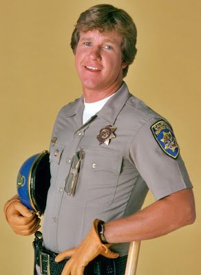 Actor Larry Wilcox as Officer Jonathan Andrew Baker in ChiPs. Larry Wilcox has his own production company, Wilcox Productions