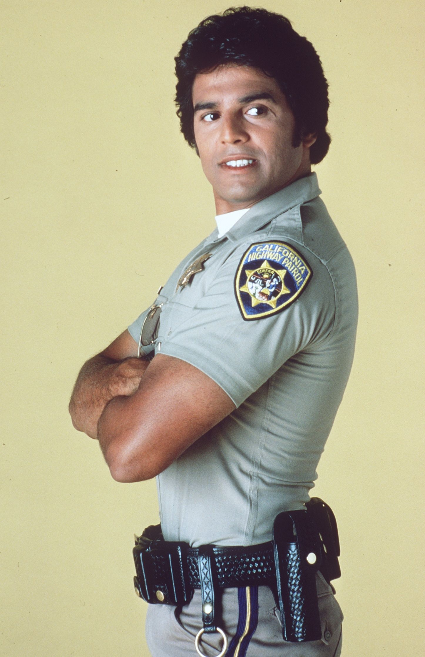 Actor Erik Estrada as Officer Francis Llewelyn Poncherello in ChiPs. After ChiPs, Erik Estrada played the lead in  telenovela Dos Mujeres, un Camino