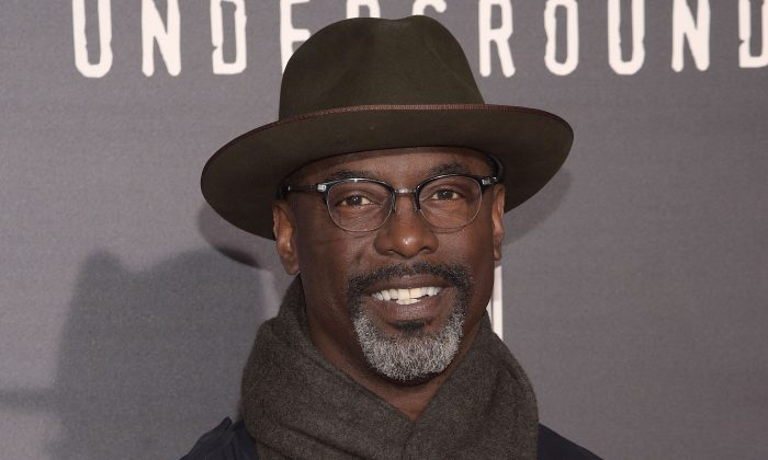 """Isaiah Washington at  WGN America's """"Underground"""" at The Theatre At The Ace Hotel in Los Angeles. Actor Isaiah Washington portrayed the role of Dr. Preston Burke in the medical drama, Grey's Anatomy"""