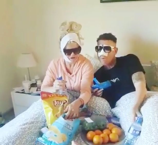 Danniella Westbrook with friend Christopher Maloney in bed