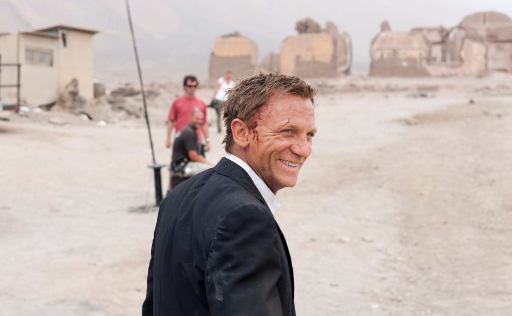 Daniel Craig on the set of James Bond movie Quantum of Solace
