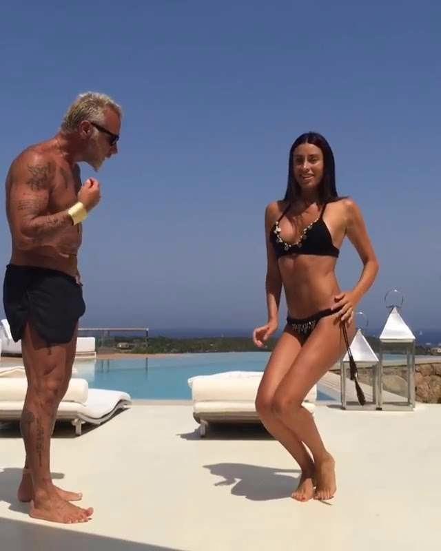 Giorgia Gabriele and girlfriend Gianluca Vacchi's dance video on Instagram got 12 million views