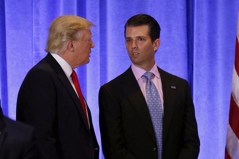 President Donald Trump asking his son Donald Trump Jr. about the secret meeting he had with his, Kremlin-linked Russian lawyer during campaign