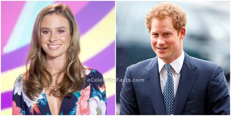 Side by side image of Prince Harry and Camilla Thurlow. They were reported to be in a relationship in 2014.