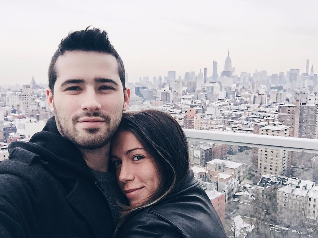 Lovely couple! Joe Santagato and his girlfriend Sammy Ricky