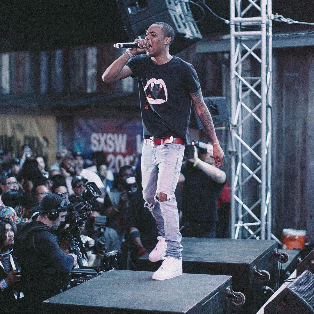 G Herbo performing on stage during his concert on March 2017