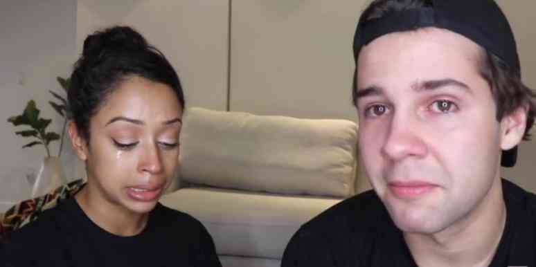 David Dobrik and Liza Koshy  on a video about their breakup