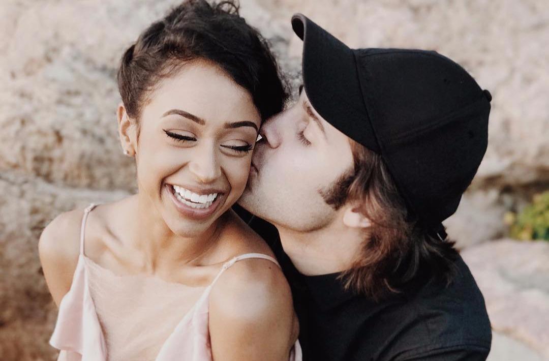 David Dobrik kissing girlfriend Liza Koshy