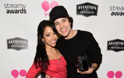 David Dobrik and Liza Koshy at the Streamy Awards red carpet