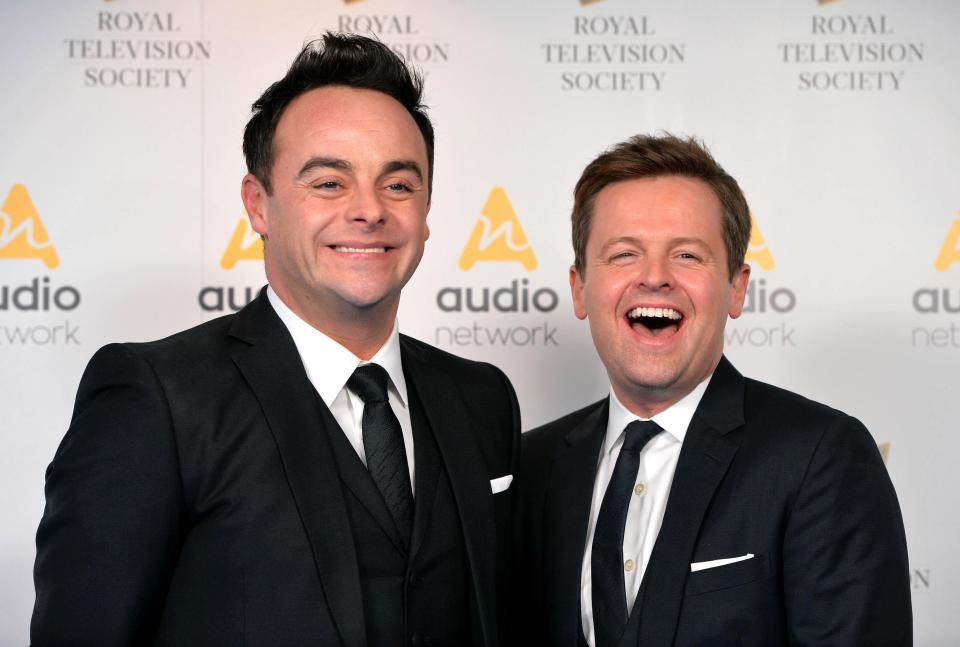 Ant & Dec smile for the camera during an event