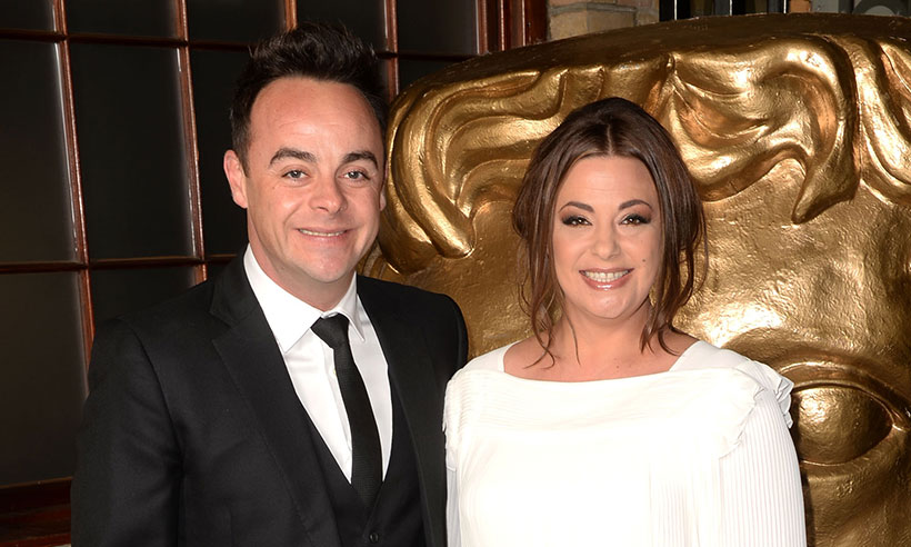 Ant McPartlin and wife Lisa Armstrong take a picture during the BAFTA